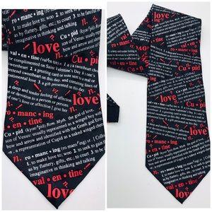 "Valentine Mens Tie Love Cupid Definitions 4x57"""